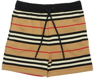 Burberry Signature Cotton Loop Sweat Shorts