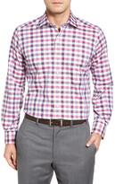 David Donahue Check Regular Fit Sport Shirt