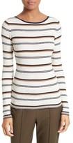 Theory Women's Mirzi M Stripe Merino Wool Sweater