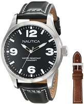 Nautica Men's NAD13500G BFD 102 Analog Display Japanese Quartz Black Watch