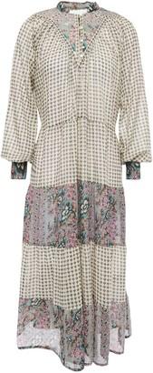 Antik Batik Elody Paneled Printed Cotton-gauze Midi Dress
