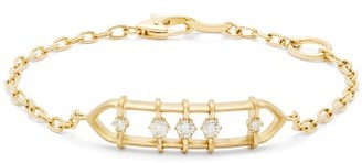 Jade Trau - Penelope Floating Diamond And 18kt Gold Bracelet - Womens - Gold