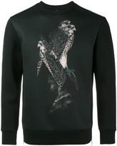 Neil Barrett bird print sweatshirt