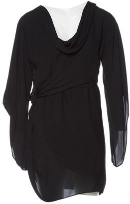 Halston \N Black Silk Dresses