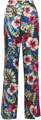 F.R.S For Restless Sleepers Hydros Floral-print Satin-jacquard Wide-leg Pants