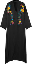 Etro Sequined Embroidered Stretch-silk Crepe Maxi Dress