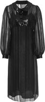Anna Sui Metallic Stripe Chiffon Dress