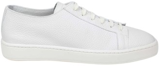 Santoni Sneakers With Nappa White Color