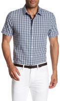 Original Penguin Checkered Slim Fit Short Sleeve Shirt