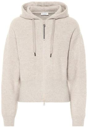 Brunello Cucinelli Ribbed cashmere hoodie