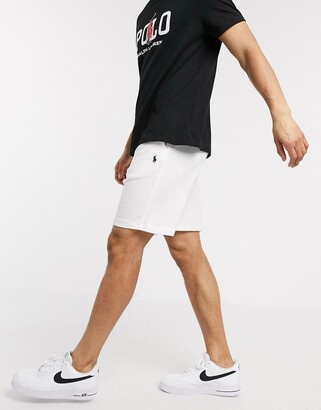 Polo Ralph Lauren player logo lightweight terry loopback sweat shorts in white