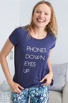aerie Graphic Tie Side Tee