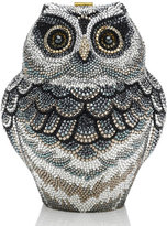 Judith Leiber Couture Wisdom Owl Evening Clutch Bag, Black