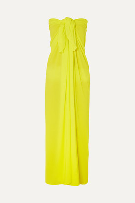 Norma Kamali Ernie Stretch-jersey Pareo - Bright yellow
