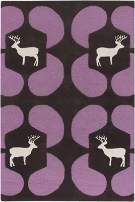 Deer Wool Rug- Purple