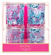 Lilly Pulitzer Gypsea Girl Lo-Ball Glasses/Set of 4