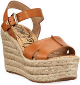 Sam Edelman Maura Leather Platform Wedge Espadrille Sandals