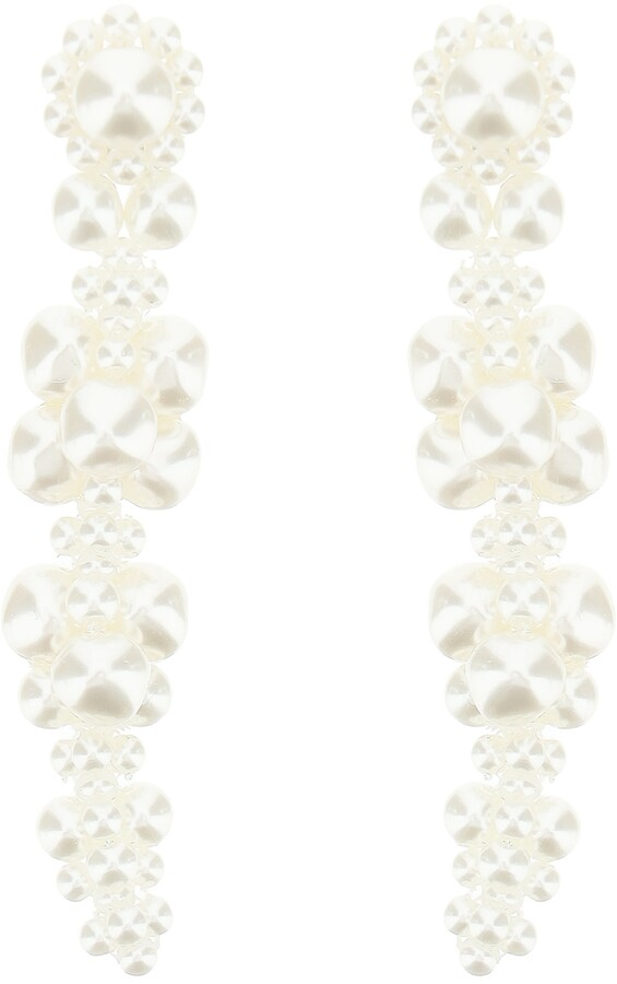 Thumbnail for your product : Simone Rocha CLUSTER DRIP EARRINGS OS White