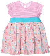 Zutano Wide Awake Banded Waist Dress (Baby) - Blush-24 Months