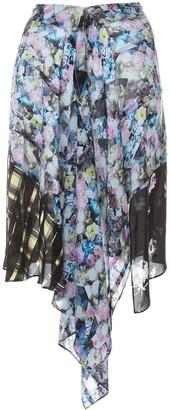 Preen Line Agatha draped skirt