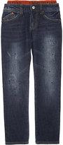 Armani Junior Distressed Logo Waist Jeans 4-16 Years