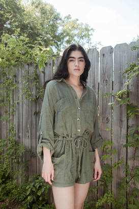 Out From Under Button-Down Romper