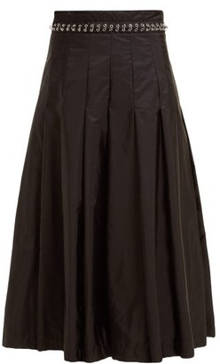 6 Moncler Noir Kei Ninomiya - Eyelet-chain Pleated Skirt - Black