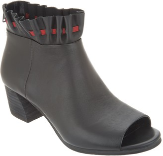 Logo by Lori Goldstein Lori Goldstein Collection Open Toe Booties with Ruching