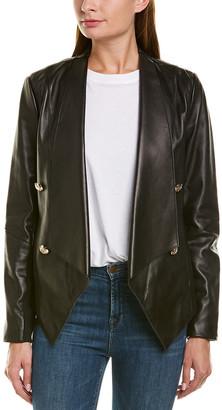 Tahari Penelope Leather Jacket