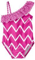 Gymboree Chevron 1-Piece Swimsuit