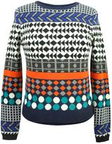 Yumi Jacquard Knit Sweater