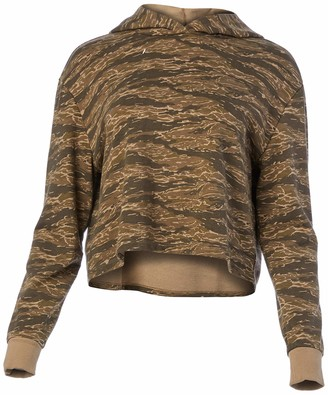 Alternative Women's Terry Cropped Pullover Hoodie