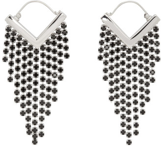 Isabel Marant Black and Silver Melting Earrings