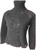 Chanel Anthracite Wool Top for Women