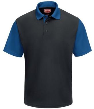 Red Kap Men's Short Sleeve Performance Knit Color-Block Polo Shirt