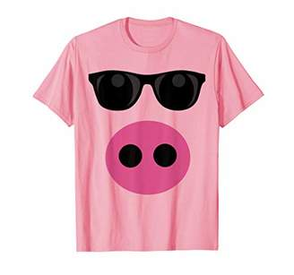 Cute Pig Face DIY Barnyard Animal Halloween Costume T-Shirt