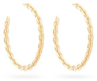 Lizzie Mandler - Knife Edge Large 18kt Gold Hoop Earrings - Gold
