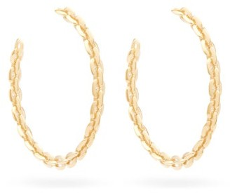 Lizzie Mandler - Knife-edged Large 18kt Gold Hoop Earrings - Gold