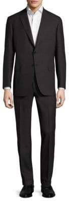 Brioni Textured Pinstripe Wool Suit