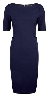 Dorothy Perkins Womens **Navy Ruched Waist Bodycon Dress