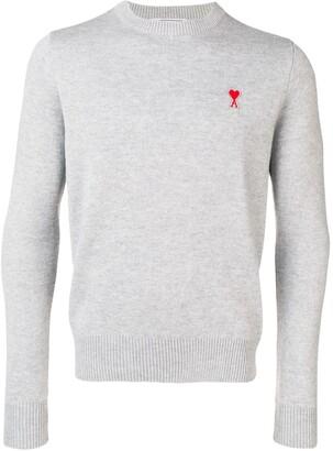 Ami Paris crew neck sweater with patch