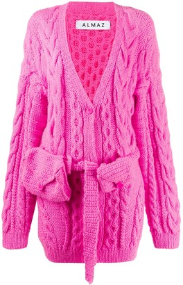 Almaz Chunky Cable-Knit Cardigan