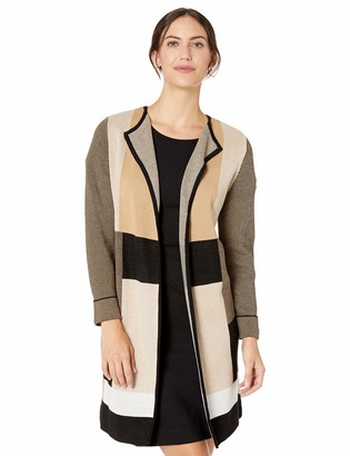Kasper Women's Long Sleeve ROLL Cuff Cardigan