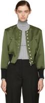3.1 Phillip Lim Green Pearls Bomber Jacket