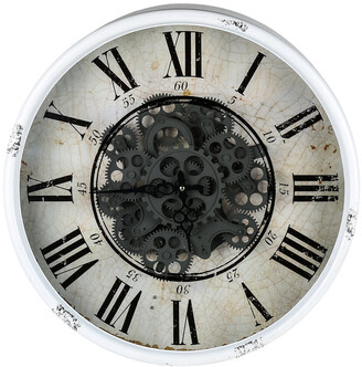 Phil Bee Interiors Round Wall Clock With Exposed Mechanism