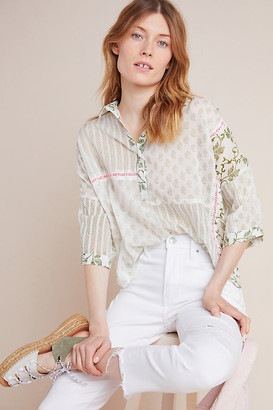 Am.It By Amit Aggarwal Josefa Henley Blouse By AM. IT by Amit Aggarwal in Assorted Size XL