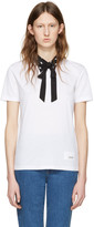 Miu Miu White Cat Collar T-shirt