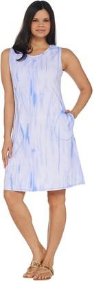 Belle By Kim Gravel TripleLuxe Knit Watercolor Tank Dress