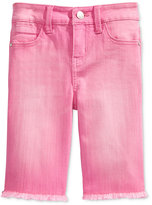 Celebrity Pink Colored Denim Bermuda Shorts, Big Girls (7-16)