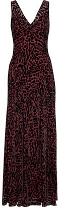 Diane von Furstenberg Clemine Crystal-embellished Devore-velvet Gown